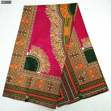 High quality African real wax fabric veritable 100% cotton Nigerian Ankara wax fabric for woman traditional dresses NR325
