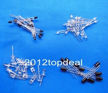 3mm 5mm 940nm LEDs infrared emitter and IR receiver diode 5-100pcs kit