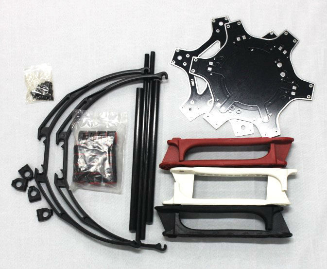 F550 Hexa-Rotor Air Frame FlameWheel Kit + Tall Landing Skid PTZ +65mm Resistance Skid-Proof Sponge Foam Tube F05114-R<br><br>Aliexpress