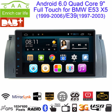 "Dycaion Android 6.0 1G/2G RAM 16G/32G ROM GPS Navi 9"" Full Touch Car DVD Multimedia for BMW E53 X5/E39 5 97-06 with BT/RDS/Radio(China)"