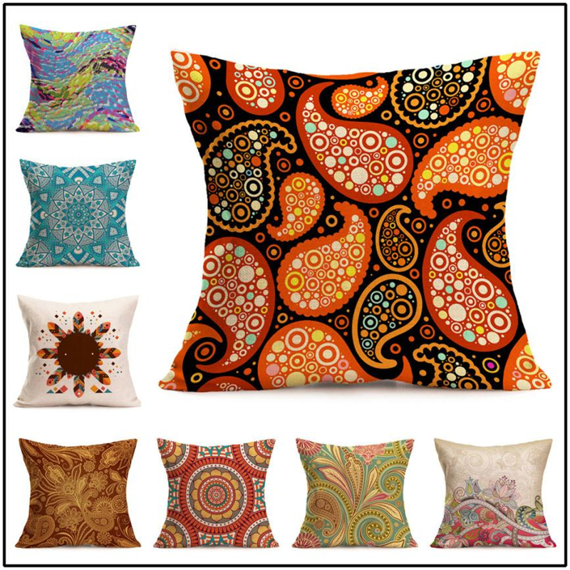 New Bohemian Pattern Throw Pillow Cover Car Cushion Cover Pillowcase Home Decor09