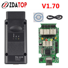 OPCOM V1.70  For Opel Diagnostic Scanner OP COM / OP-COM CANBUS V1.70 With 1 Years Warranty opcom 1.70 Free Shipping