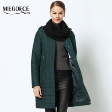 MIEGOFCE 2018 Thin Coat Spring Autumn Female Women Jacket Coat Spring Women Parka Warm Windproof With a Large Size Coat Women(China)