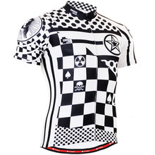 Mens Cycling Jerseys Bicycle Clothings Chess Graphic Full Zipper Short Sleeve MTB Bike Tops Shirts S-XXXL Ciclismo - Happy sports Jersey store