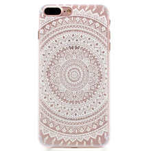 JiBan For Apple iphone 7 8 plus case court flower hollow white flower mandala PC shell for iphone 6 6s plus 5S cases(China)