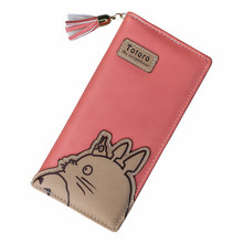 19*9*3cm Japan Popular Anime Hayao Miyazaki Totoro Female Long Wallets 5 Colors PU Leather Zipper & Hasp Multi-functional Wallet