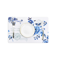 Dinner Placemat Pvc Dining Table Mat Disc Pads Bowl Pad Coasters Waterproof Table Decor Cloth Pad Slip-Resistant Pad(China)