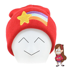 Gravity Falls Parent-child Family Knitted Beanies Hat Dipper Mabel Pines Enthusiasm Red Cute Rainbow Pattern Elasticity Bonnets(China)