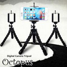 Universal Flexible Octopus Tripod Leg+Stand Mount Phone Holder Clip Digital Camera Tripod Holder Stand Display Phone Accessories