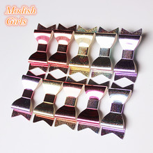 New Refelective 20pcs/lot Wholesale Hair Bows Bestseller Glitter Felt Hair Clips Bowknot Shining Barrettes Girls Hairpins