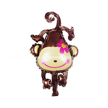 50pcs/lot New arrival Mini peach blossom monkey Foil balloons Wedding birthday party club decoration Hot sale wholesale
