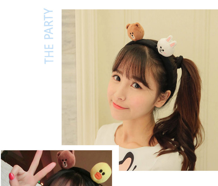 kids baby infant child girls and Mom Cute little rabbit bear headwrap hair bands Small yellow duck elastic ribbon headband Accessories (2)
