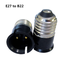 E27 to B22 Lamp Holder Converter Socket Conversion E27 Lamp Holder B22 Lamp Base Fireproof Material Light Bulb Base Type Adapter
