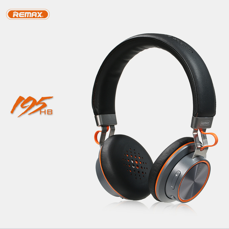 Fashion Remax 195HB V4.1 Headphone Headset Microphone Stereo Earphone Leather for Laptop Smart Phone iPhone iPad Game Deep Bass<br><br>Aliexpress