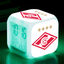 FC Spartak Moscow led alarm clock soccer club from Russia snooze digital clocks reveil projection christmas watch gifts for kid(China)