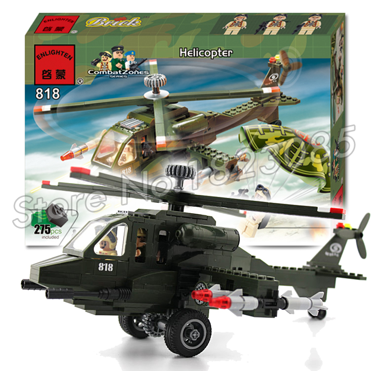 275pcs 2016 new Hot New CombatZones Helicopter large model Christmas Gift Building Blocks toys Compatible With Lego<br>