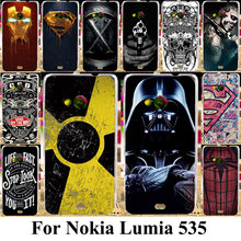 Taoyunxi Silicone Plastic Phone Cases For Microsoft Nokia Lumia 535 N535 5.0 inch Bag Shell Cover For Nokia Lumia 535 Case(China)