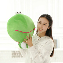 Cute Green Frog Plush Toys 45cm mung bean Frogs Cloth Doll Kids Baby pillow Cushion stuffed plush doll Child Christmas present(China)
