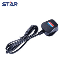 UK Standard LED Power Supply Adapter Connect Plug Extension Silicone Wire, 1.2m Long Environmental PVC Electric Cord Cable