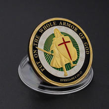 1-30 pcs Drop shipping Put on the Whole Armor of God Challenge Coins