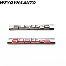 New Style Car Quattro Logo Sticker Quattro Badge Chrome Accessories For AUDI A3 A4 A5 A6 A7 A8 S3 S4 S5 S6 Q3 Q5 Q7 TT R8 RS