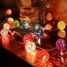 9Meters LED Solar Lanterns Holiday Garden Christmas Wedding Solar Lights Party Decoration Outdoor Ball light 2 pieces/lot