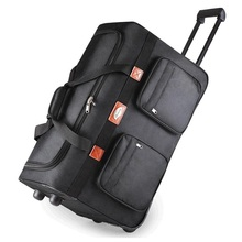 "26""32"" Large Waterproof Duffle bag Trolley Bag Fold Oxford Rolling Trolley Luggage Bag Travel Bag Checked Hand Luggage(China)"
