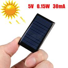 2pcs/lot 5V 0.15W 30mA Mini Power Solar Cell Panel DIY Battery Charger for Cellphone Phone And Toyes Portable
