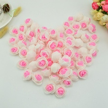 50pcs Foam fake flower pe roses head artificial flowers cheap wedding decoration for scrapbooking gift box diy wreath Multi-use(China)