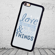 Popular 1D One Direction Quote Printed Phone Cases Accessories For iPhone 6 6S Plus 7 7 Plus 5 5S 5C SE 4S Soft Rubber