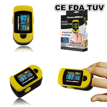 Free Shipping ChoiceMMed Yellow Pulse Oximeter Finger Tip Blood Oxygen SpO2 Monitor CE FDA TUV Approved MD300C20