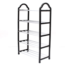 5 Tier Home Storage Organizer Cabinet Shelf Space Saving Shoe Tower Rack Stand Black(China)