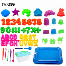 YNYNOO 1-12pcs Dynamic Educational Sand Tools Amazing DIY Indoor Magic Playing Sand Children Toys Mars Space magic Sand Mould