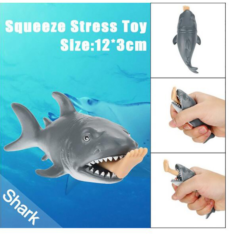 Crazy Shark Pops Out Surfer Leg Stress Relief Funny Toy 10