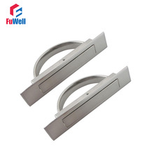 2pcs Tatami Door Knob Hidden Handles Silver Concealed Handle for Cabinet Wardrobe Zinc Alloy 50mm/72mm/85mm Groove Length(China)