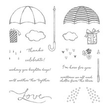 Raining umbrellas TPR silicon Transparent clear Stamp rubber seal for DIY Scrapbooking/Card Making/ Decoration Supplies(China)