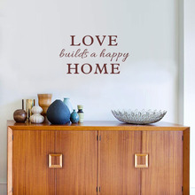 Family Wall Quotes Sticker Love Builds a Happy Home Art Vinyl Decal for Room Decor(China)