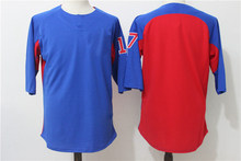 Men's Baseball Jersey  Throwback Baseball Jersey Baseball Tranning Wear Summer T-shirt A Combination of Red and Bule