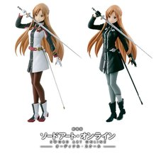 Original Banpresto  Sword Art Online Asuna Action Figures PVC Collection Toys  brinquedos Model Kids Dolls Figurals