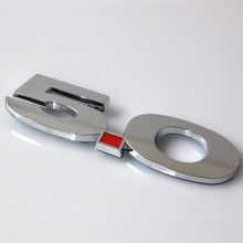 BBQ@FUKA Auto car Chrome 5.0 Rear Rear Trunk Fender Emblem Badge Sticker Fit For Ford Mustang GT 5.0(China)