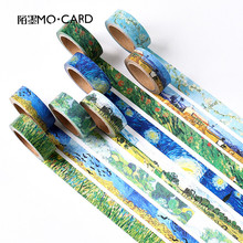1 pcs Washi Tapes DIY Van Gogh Painting paper Masking tape Decorative Adhesive Tapes Scrapbooking Stickers Size 15 mm*7m