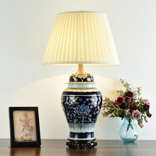 Bedroom vintage table lamp china living room Table Lamp for wedding decoration porcelain lamp bedside table blue and white