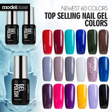 Modelones French Manicure Style Nail Gel Polish Classic Red Color Gel Nail Polish Cure UV Lamp Nail Gel Varnish Grey Color Gel