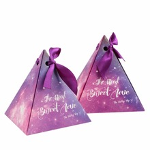 10pcs Paper Gift Box Candy Boxes for Wedding Decoration Star Pyramid Triangle Favor Boxes Festive Party Supplies(China)