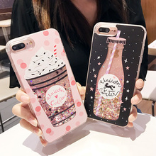 Buy Korean Bottle Glitter Quicksand Star Liquid Case iPhone 6 6s 7 8 Plus Bling Sequin Phone Cover iPhone6 iPhone7 i6s i7 for $2.44 in AliExpress store