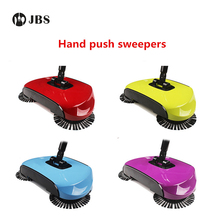 Spinning Broom Brush Magic Broom Sweeping Machine Without Electricity Hand Push Household Sweeper Dustpan Hard Floor Vassoura(China)