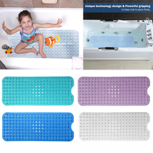 40*100cm PVC Large Bathtub non-slip bath mats with suction cups Free Shipping(China)