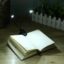 Flexible LED Book Light Desk Reading Lamp Clip Table Light Single/Double Bar For Kindle Study With US Plug