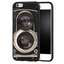 Vintage Twin Reflex Camera Style Soft Rubber Back Case Cover For iPhone 6 6S Plus 7 7 Plus 5 5S 5C SE 4 4S Mobile phone bag