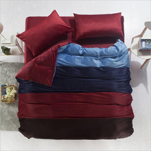 Brushed velvet bedclothes family of four four-color stitching thick winter sporty four-piece bedding wholesale special(China)